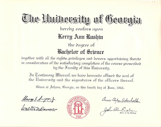 Kerry Rushin Miller degree photo